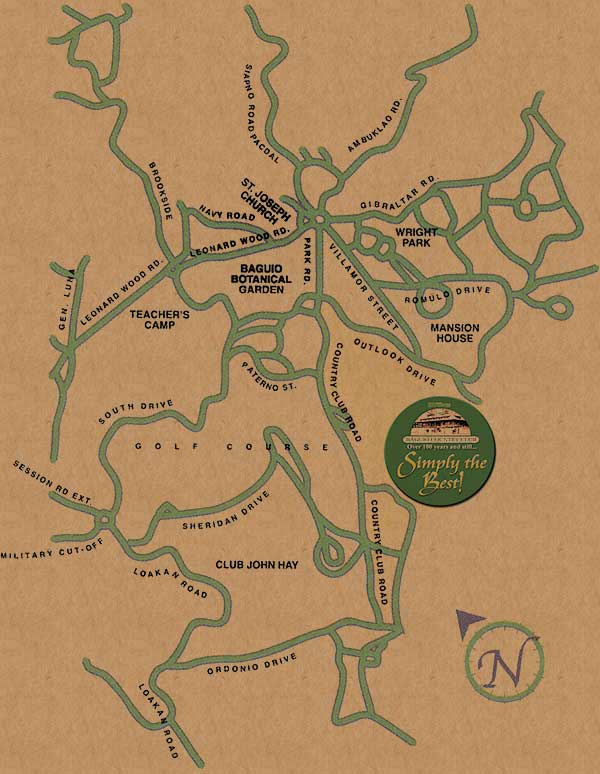 Baguio Country Club Location Map TravelSmartNET - Baguio map