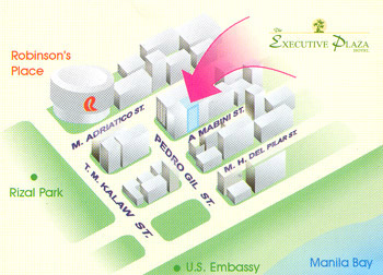 executive plaza el location map