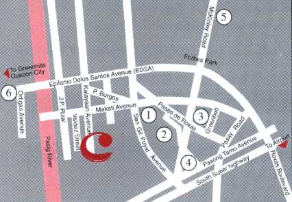 Pacific Star Building Map TravelSmart.  Makati Prime Tower Suites Makati Philippines   Map