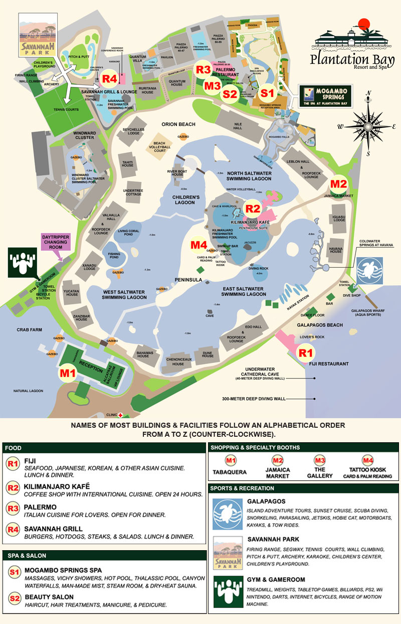 Plantation Bay Resort - Map - TravelSmart.NET