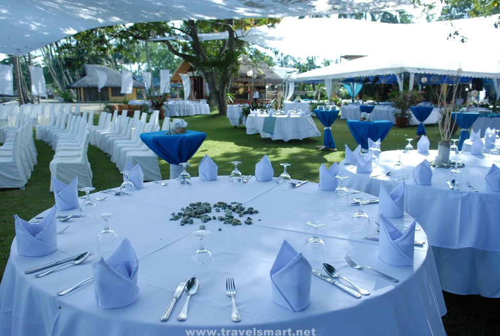 wedding resorts on Marina Wedding Tables And Chairs Set Up