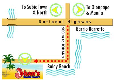Olongapo Philippines Map.Johan S Beach Resort Location Map Travelsmart Net